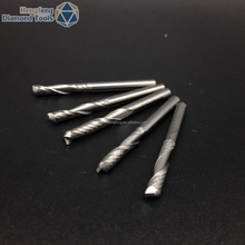 Carbide one flute end mill 3.175*17mm single flute spiral bits cnc router bits for cnc wood router machine