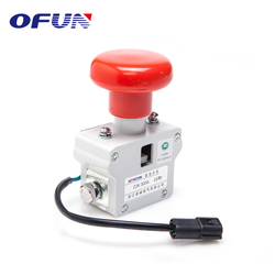 OFUN Magnetic Types Of 80V 300A Emergency Push Button Stop Switch