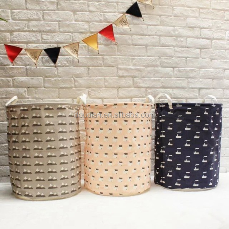 NEW design foldable nonwoven laundry hamper basket natural cotton laundry bag extra large