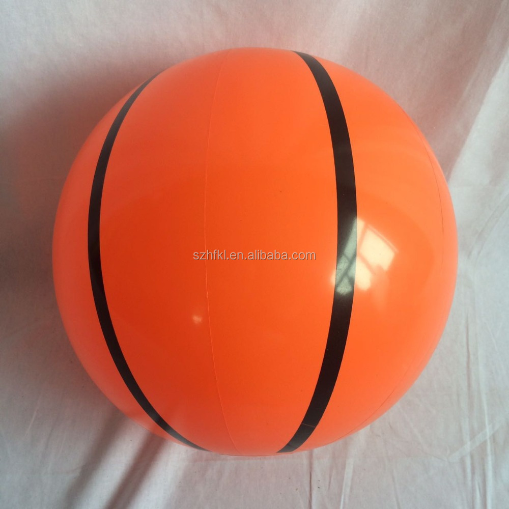 Orange single article inflatable beach ball, children's toys