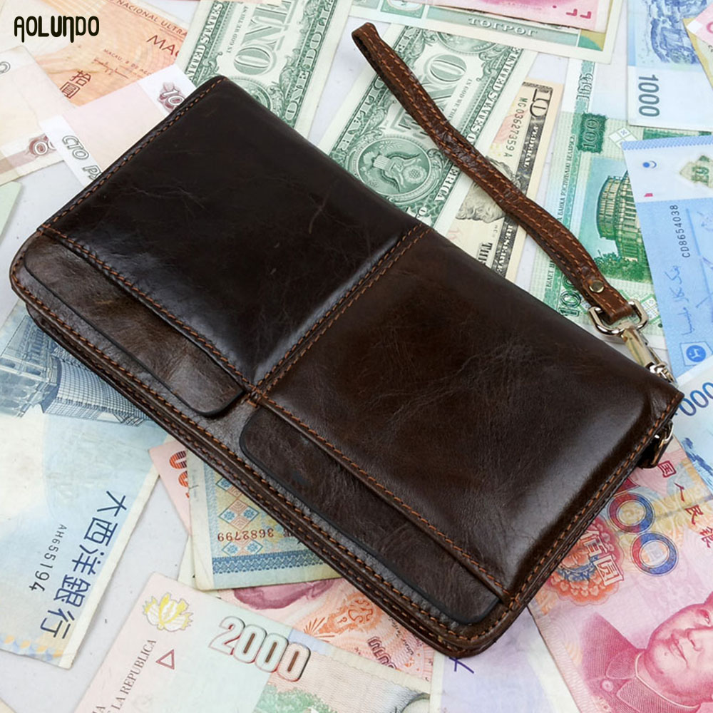 New credit card rfid leather men travel passport holder wallet