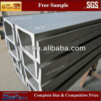 SUS316 hot rolled annealed and pickled stainless steel U channel /Channel Beam/C channel