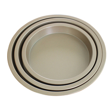 Non-stick carbon steel bakeware round shaped pizza baking pan