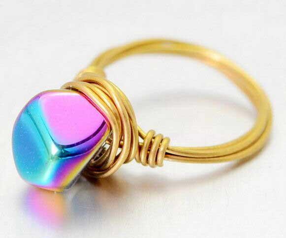 Rainbow Natural Stone : Rainbow stone all natural new york