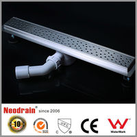Long plastic shower channel floor drain