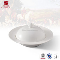 White ceramic dinnerware porcelain ceramic shape soup tureen