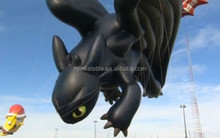 advertising black large toothless inflatable dragon