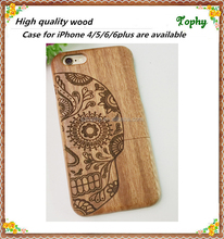 2015 Popular Design Wood Bamboo Mobile Phone Case For Iphone 5s 6 6 plusCase