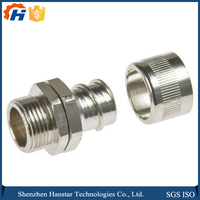 Zinc Plated spare parts steel turning bushing CNC machining center services