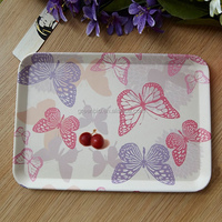 Alibaba china supplier wholesale bamboo fiber kitchenwares/square large food &drink tray/dinner plate/tableware