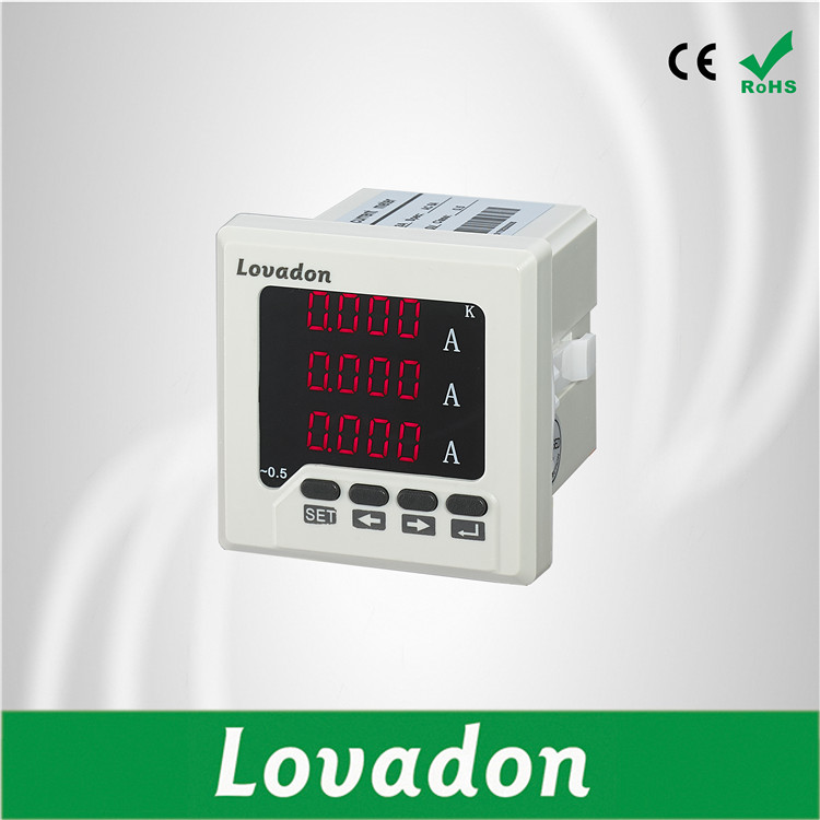 LST72-3A Digital Electrical Meter 68*68mm three Phase Current Meter