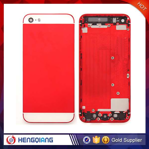 Replacement part Back Door Housing Battery Cover Middle Frame Metal Back Housing For iphone 5
