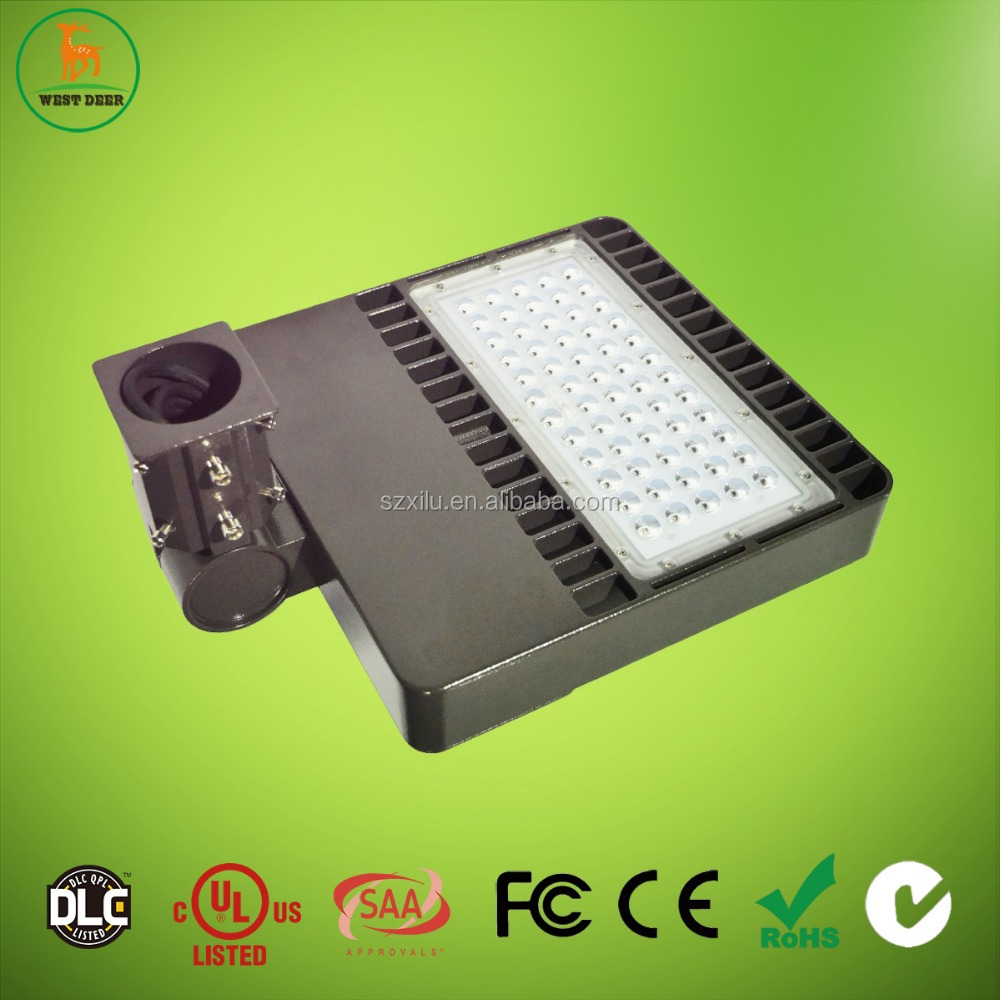 Global source china plug and play lighting 300W car park aluminum alloy led shoebox with DLC/ETL approved