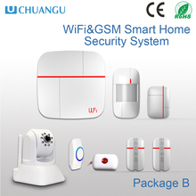 hot selling easy installation WIFI GSM home security With HD IP Camera,99 Wireless Zones