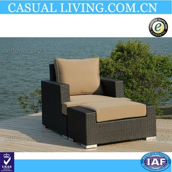Outdoor Patio Wicker Furniture Sofa Set 2-Piece Club Chair