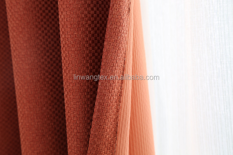100 polyester new style curtains for Hotel/Home/office