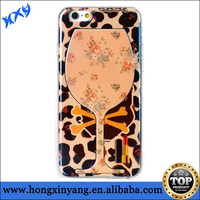 TPU mobile phone case cover for iPhone 6 with Wine Cup design on the back and blu-ray effective