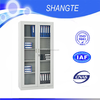 pigeon hole file cabinet with glass sliding door with factory price