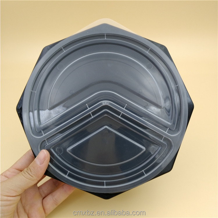 Microwave safe unique black wholesale lunch boxes for food packing