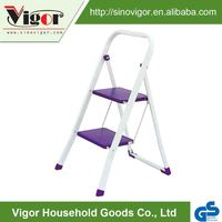 China Wholesale Purple 2 Step Folding Boat Iron Ladder Stool With GS Certificate