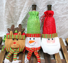 2017 Christmas Decorative Fabric Wine Bottles Covers, Wine Bottle Holiday Covers