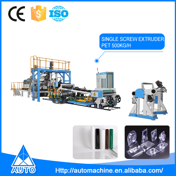 High Quality Plastic Extrusion Pet Sheet Single Screw Extruder Machine