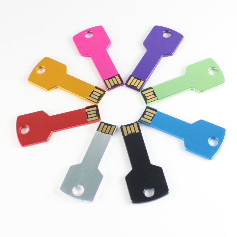 Wholesale really capacity Colorful Waterproof Metal key USB 2.0 USB Flash Drives 8G pen drive 16G external storage memory stick