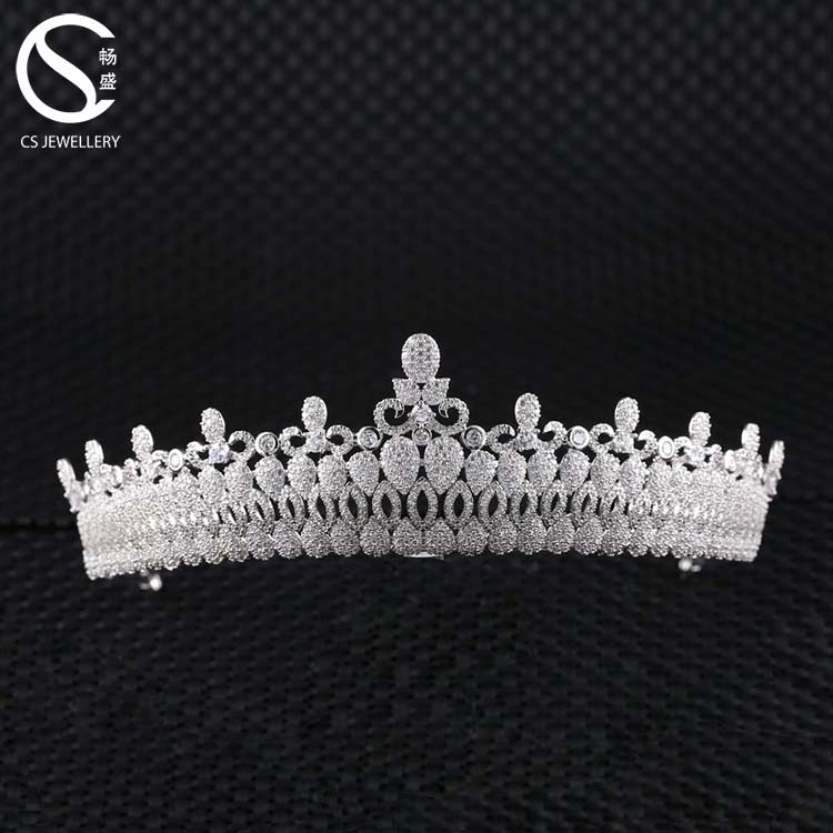 High Quality Crystal Zirconia Wedding Hair Tiaras Jewelry For Brides