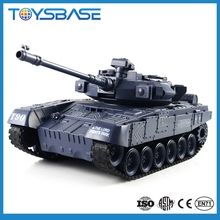 2.4G Military tank toy 1 8 scale rc tanks with sound and light, radiator plastic tanks