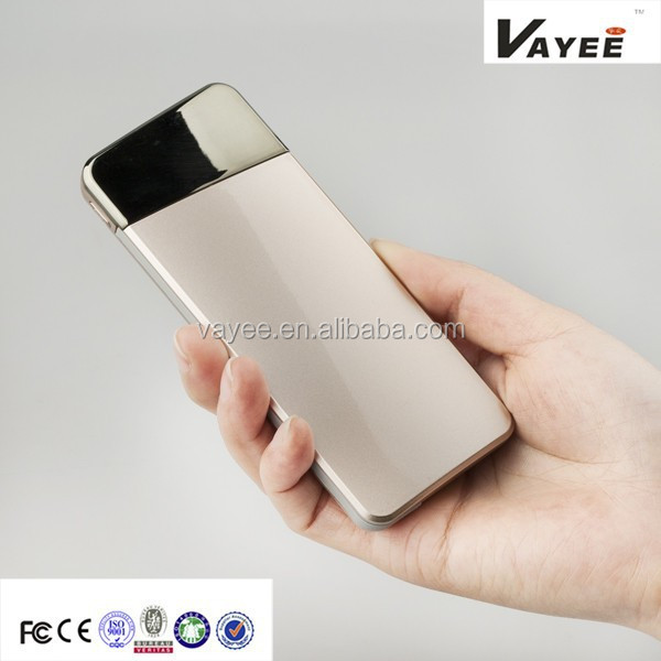 New Arrival! Built-in data line slim 5500mAh power bank credit card size