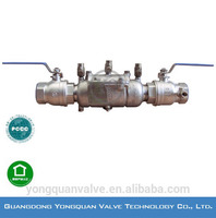 "Stainless Steel Double Check Back flow Preventer, DN 1/2''-2"", PN 1.6MPa"