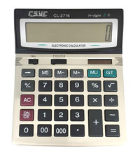 16 digits solar power big display office calculator desktop calculator