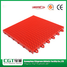Portable athletic modified PP basketball flooring in stock
