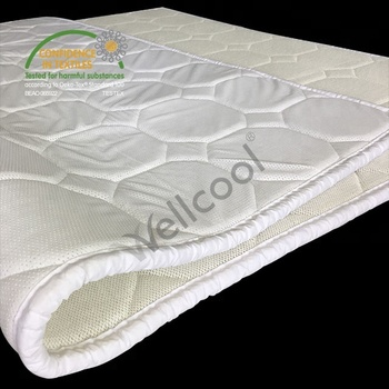 comfortable 3d spacer mesh fabric cooling mattress topper