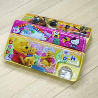 Girl or Boy Plastic School Pencil Box And Sliding Pencil Case