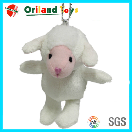 2015 NEW plush sheep keychain & cute plush toy keychain & mini plush animal keychain