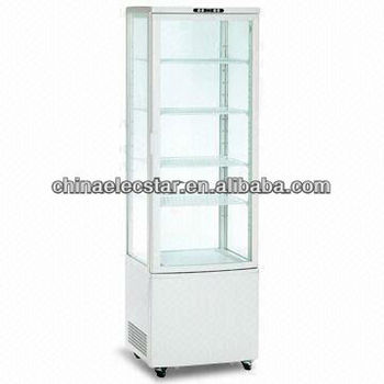 58L Four Glass door upright display Cooler, CE Approved