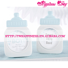 """It's a Boy!"" Classic Blue Baby Bottle Resin Photo Frame Baby Shower Favors Party Giveaway Gift"