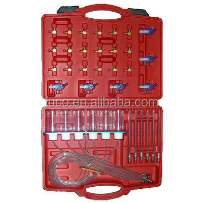Diesel Engine Injector Flow Test Diagnostic Adaptor Set Meter Cylinder Common Rail Tool