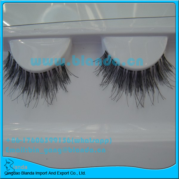 Popular Style Naturalites Fashion lashes Faux Beauty Eyelashes Double Human Hair Eyelashes