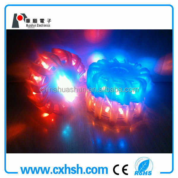 10-in-1 AAA battery car led safety flare with magnet,16000MCD,IP67,waterproof and shockproof