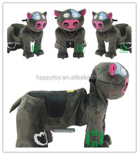 HI electric plush battery operated happy rides Milk Cow animal ride on toy coin plusher animal rides batterie for mall