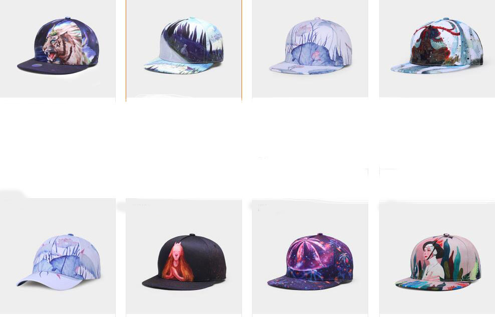 Men/Women 3D Print Customized Flat Brim Snapback Cap