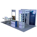 Detian Offer modular exhibition systems stand aluminum simple design booth