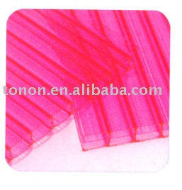 foshan tonon polycarbonate panel manufacture pink pc hollow sheet made in China (TN1706)