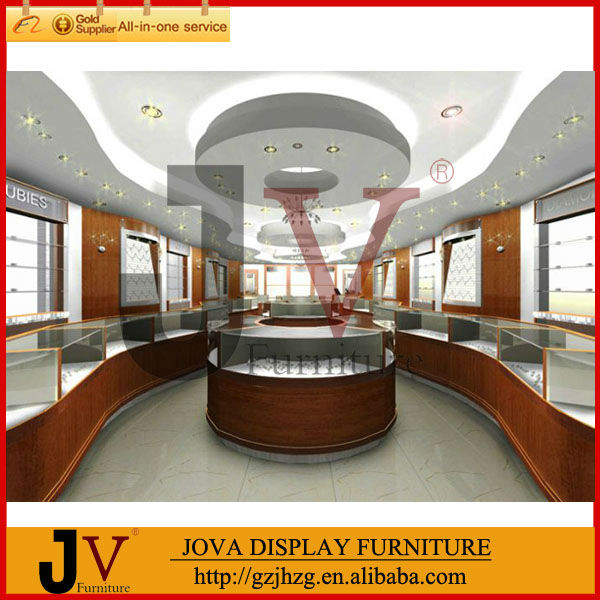 MDF wooden jewelry shop display counter design