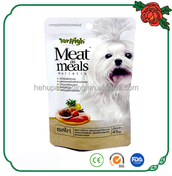 matt film quality foil zipper dog food mylar bag