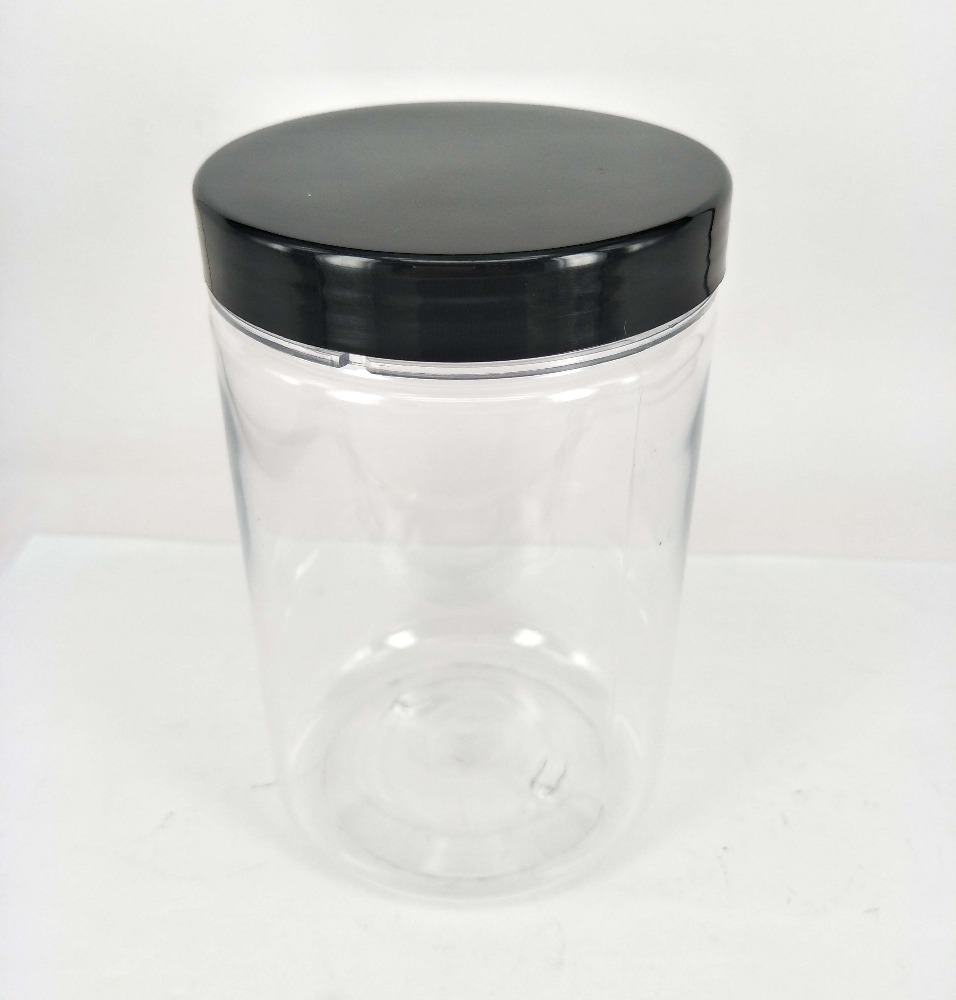25oz Food Grade Clear PET Wide Mouth Jars