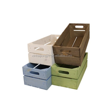 Factory Price Stain Color Wooden Fruit Crate Boxes