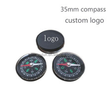 Hot selling 35mm Round Plastic Mini Compass/Pocket Compass/Orientation Compass